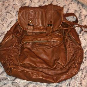 Medium size brown backpack